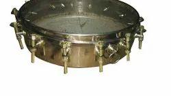 Silver Stainless Steel Tasha Drum, Round