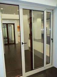 Aluminium Closet Doors Aluminum Sliding Door, For Office, Interior