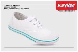 Kayvee Footwear White School Canvas Shoe