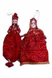 Nirmala Handicrafts Rajasthani Wooden Kathputali Puppet Set Decorative Item