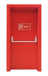 Shiv Shakti Mild Steel Fire Door, Thickness: 10 mm