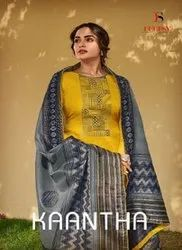 Deepsy Suits Kaantha Linen Silk With Embroidery Work Designer Suit Catalog