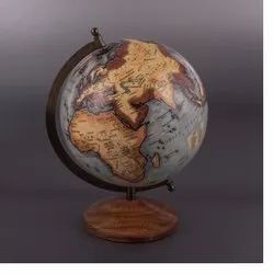 Plastic And Wooden Decorative Globe, For Decoration, Packaging Type: Box