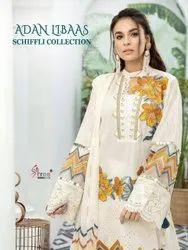 Shree Fabs Adan Libas Schiffli Pure Cotton Embroidered Pakistani Suit Catalog
