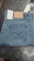 Plain Comfort Fit Mens Fashionable Denim Jeans, Waist Size: 30