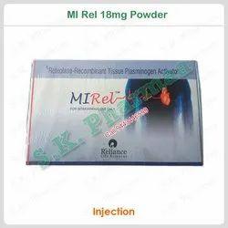 Reteplase (18mg) Mi Rel 18mg Powder For Injection, Prescription, Treatment: Heart Attack
