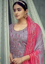 Roli Moli Sarina Pure Glace Cotton with Embroidery Work Dress Material Catalog