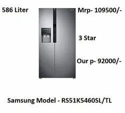 Samsung Side By Side Refrigerator 3 Star Model- RS51K5460SL/TL 586 Liter