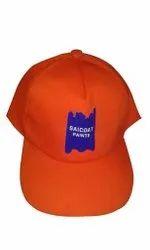Plain Cotton Gents Orange cap, Size: M,L