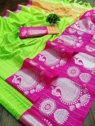 Printed Party Wear Eri Silk Saree, 6.5m