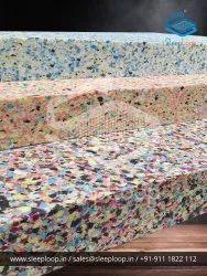 SLEEPLOOP Multicolor Rebonded Foam, 70 - 200 Density