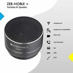 Black Zebronics Wireless Portable Bluetooth Speaker