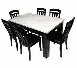 MOBEL FURNITURE Wooden SR/MY-584 (CREMA) D/Table 1.3 WHT
