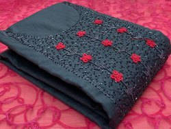 Fancy Handwork Jute Dress Material