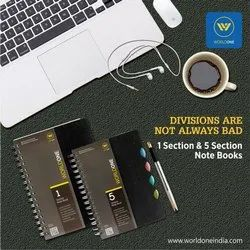 5 Subject PP Cover Notebook A4 Size with 150 Sheets