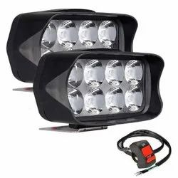 Allextreme EXL21S2 Imported Universal 8 LED Fog Light 12 watt , 2 pc with switch