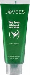 Natural Green Jovees Tea Tree Oil Control Face Wash, 120ml, Age Group: Adults