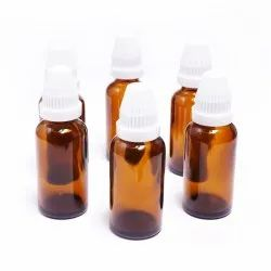 50 Ml Amber Glass Dropper Bottles With White Conical Caps And Inner Dropper (18mm Neck)