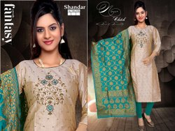 Formal Wear Silk Ladies Rayon Unstitched Suit