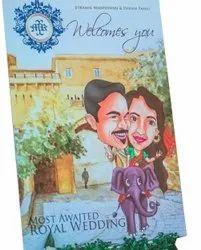 Royal Wedding Card, 2 Leaflet