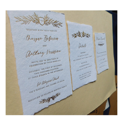 Custom Laser Cut Handmade Paper Wedding Invitation Cards