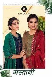 Kalarang Mastani Jam Silk With Embroidery Work Dress Material Catalog