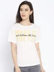 Harbornbay Women Printed Round Neck T-shirt.