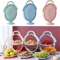 Foldable Fruit Plate Candy Dish
