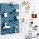 Peg Board Organizer Display Pegboard For Shelving Birch Plastic Wall Organizer/Display Unit