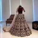 Present Velvet Embroidery Work Lahenaga Choli