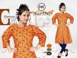 Casual Wear Straight Floral Printed Kurti