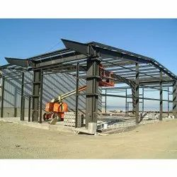 Commercial Mild Steel PEB Structure Fabrication, For Warehouse, Industry