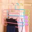 Multicolor 5 Layer Plastic Hanger, For Cloth Hanging