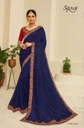 Blue Fancy Designer Saree