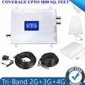 Tri Band 2G, 3G, 4G LTE Mobile Network Amplifier Antenna Kit (Coverage 1800 Sq. Feet)