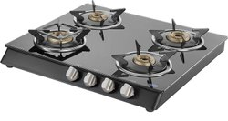 Stainless Steel Kaff Tempered 4 Burner Cooktop