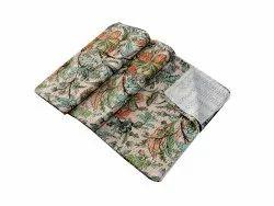 Floral Design Kantha Bed Cover