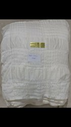 White Cotton Checks Dyble, For Garments