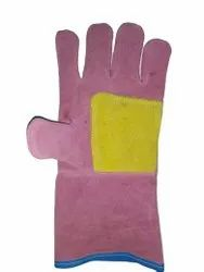 Male Leather Safety Gloves, 14 inches, Finger Type: Full Fingered