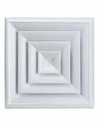 Air Ceiling Diffuser, Slot, Shape: Square