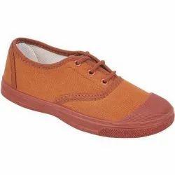 Brown School Canvas Shoes, Size: 5