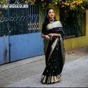 Present Soft Lichi Silk Saree With Beautiful Saree