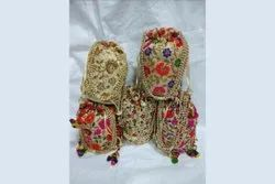 Assorted Silk Embroidered Beads Potli