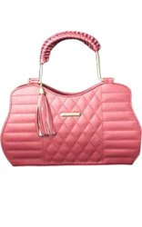 Pink Leather Handbag, For Casual Wear, Gender: Women