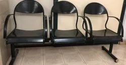 3 Seater Indian Black Waiting Chairs