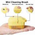 Silicon Soft Bath Body Brush With Shampoo Dispenser Body Scrubber