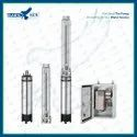 6 10HP AC Solar Submersible Pump With Controller