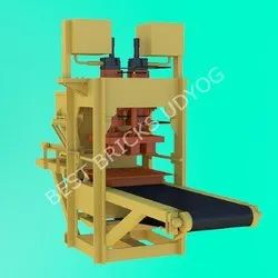 12 Cavity Fly Ash Bricks Making Machine Single Cylinder