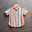 Cotton Thiya Multicolour Beige Printed Kids Casual Shirt