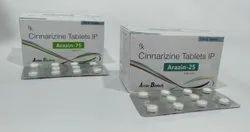 Cinnarizine 25/75 Mg Tablet